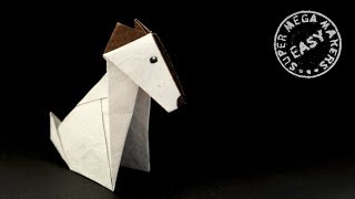 ORIGAMI DOG. How to Fold a Jack Russell Terrier