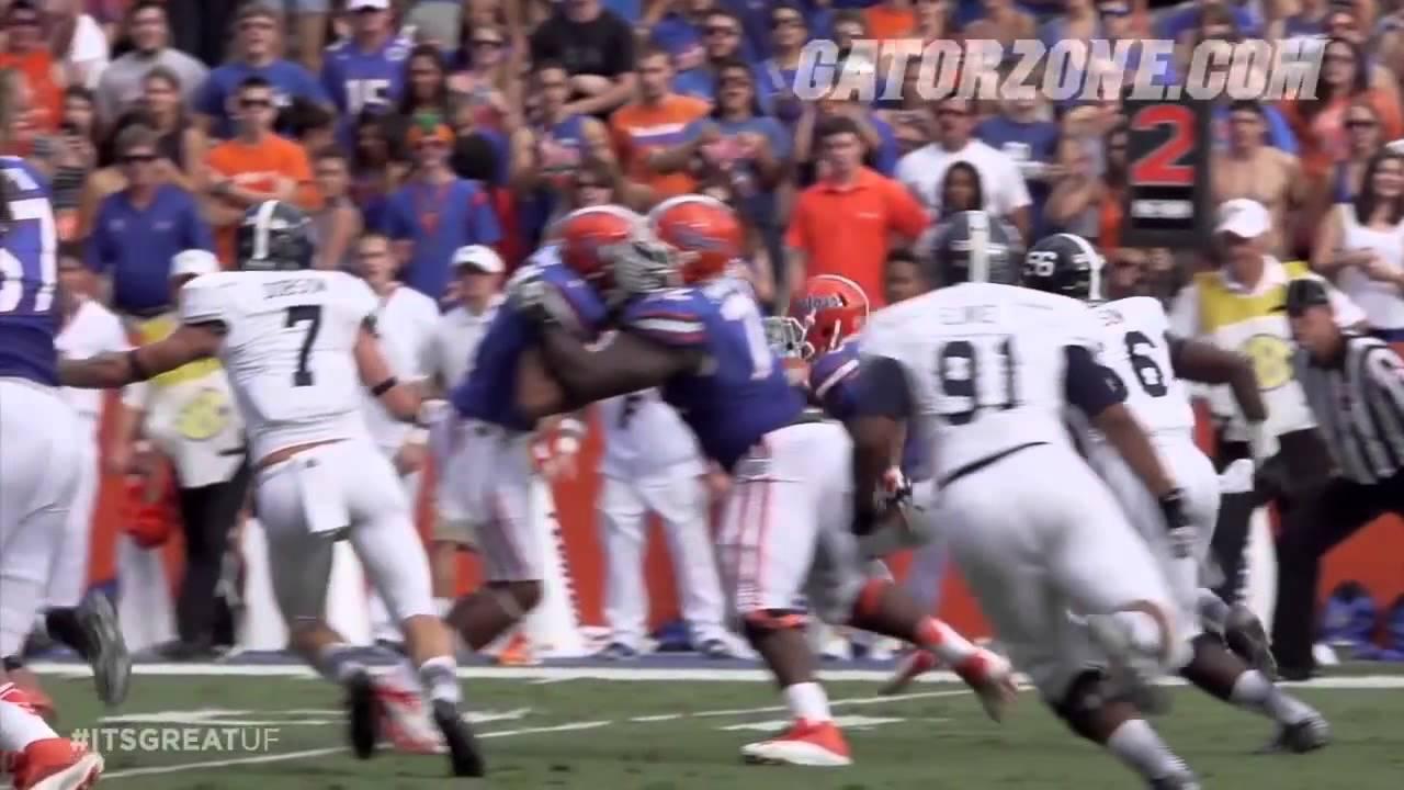 Gator teammates blocking each other vs Georgia Southern - YouTube 3e7183b34d