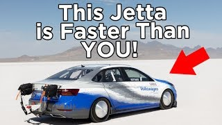 homepage tile video photo for AEM Infinity-Tuned VW Jetta Goes 210+ MPH, Breaks SCTA LSR Record at Bonneville!