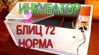 ОБЗОР// ИНКУБАТОР БЛИЦ 72 НОРМА С АВТОМАТИЧЕСКИМ ПЕРЕВОРОТОМ ЯИЦ