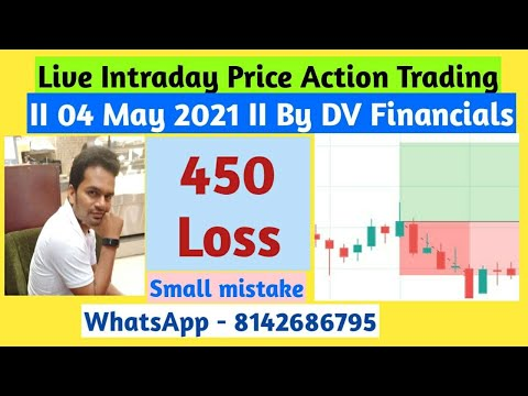 Live Intraday Price Action Trading || DV Financials || 04 May 2021