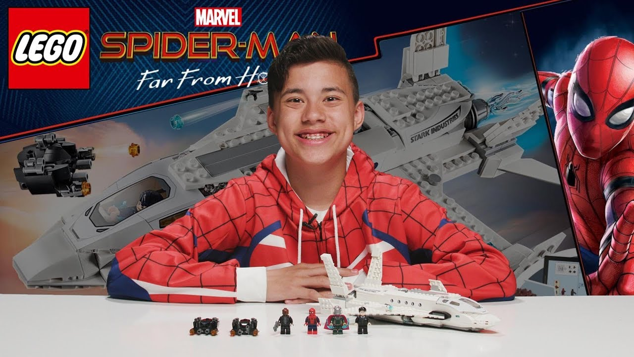 STARK JET AND DRONE ATTACK!!! LEGO Spider-Man: Far From Home - Set 76130 Time-Lapse Build Review! !