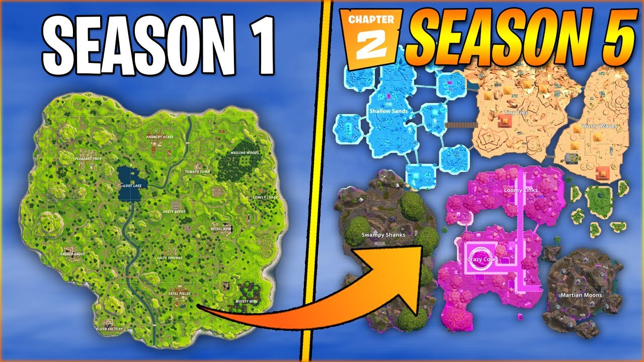 Fortnite Map Evolution Season 1 Season 5 Chapter 2 Leak Youtube For these, we've put all of their locations down below in case one. fortnite map evolution season 1 season 5 chapter 2 leak
