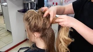 Причёска на выпускной!!!