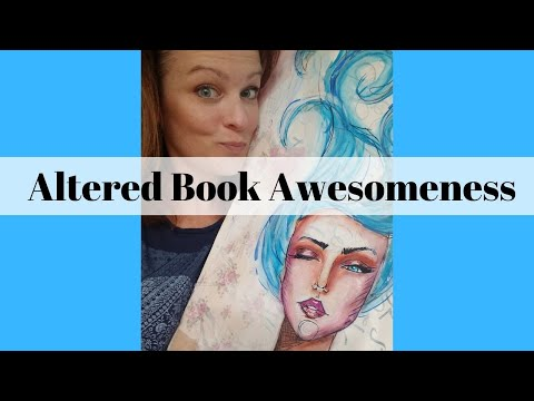 How to Make an Altered Book Art Journal in 4 Easy Steps!!!