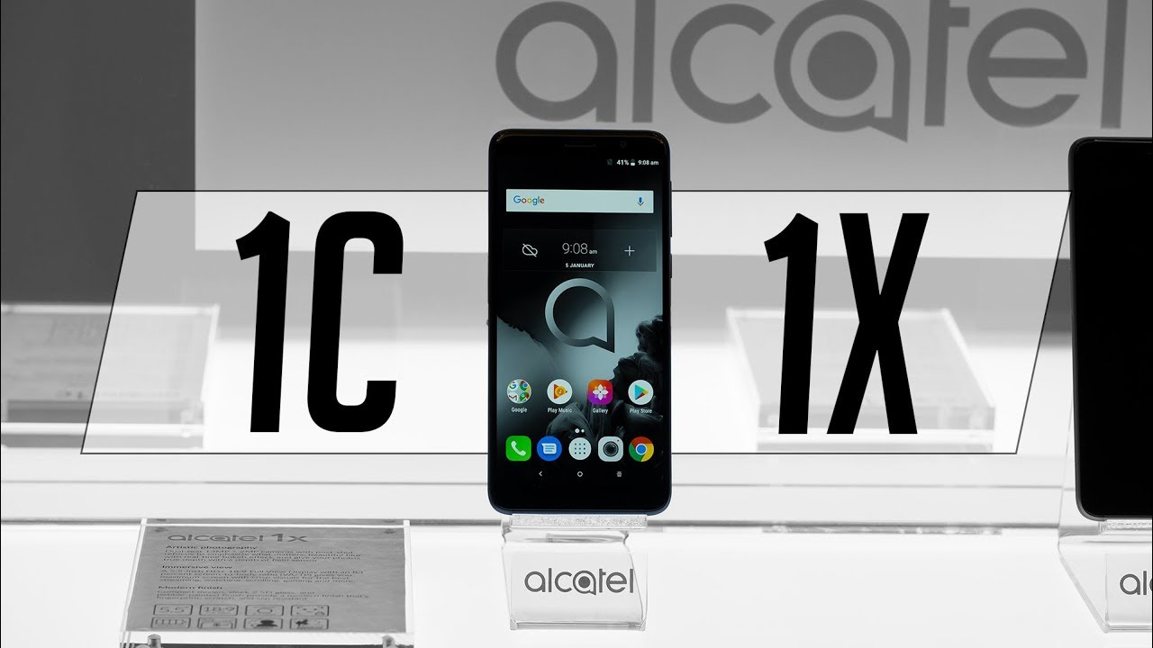 Alcatel 1X and Alcatel 1C hands-on: Budget as budget gets