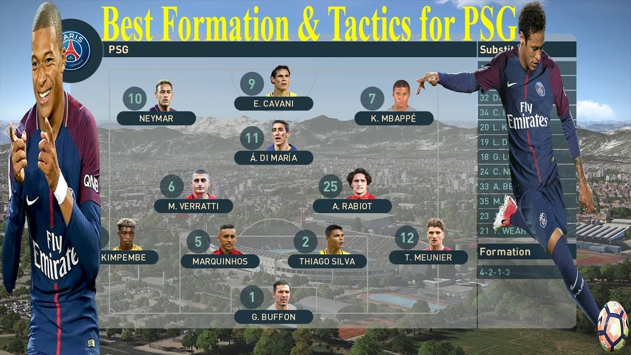 PES 2019 - Best Formation & Tactics for PSG