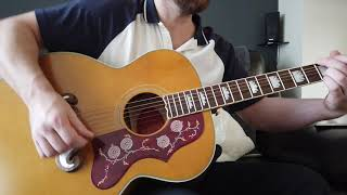 epiphone inspired by Gibson J200 close look. 2020