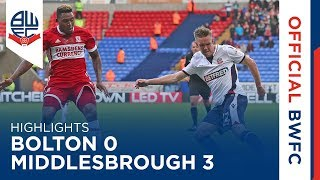 Video Gol Pertandingan Bolton Wanderers vs Middlesbrough