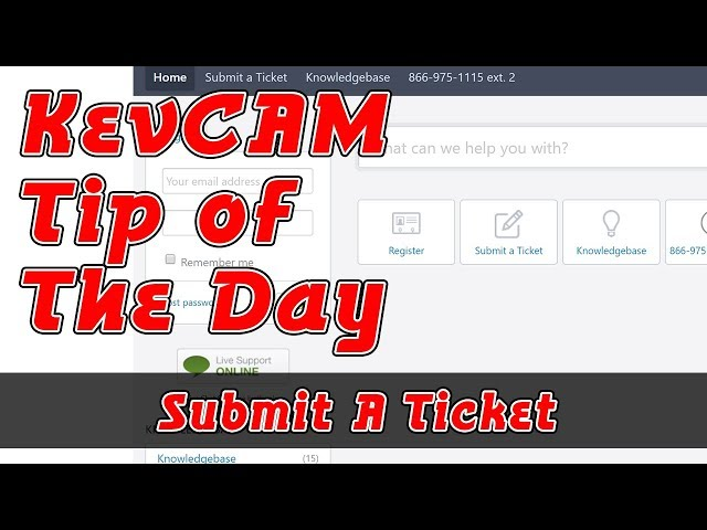 Tip of the Day - Submit a Ticket