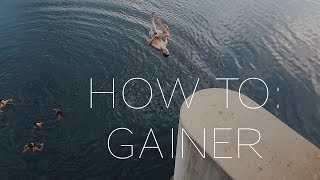 How to Gainer Flip Into Water