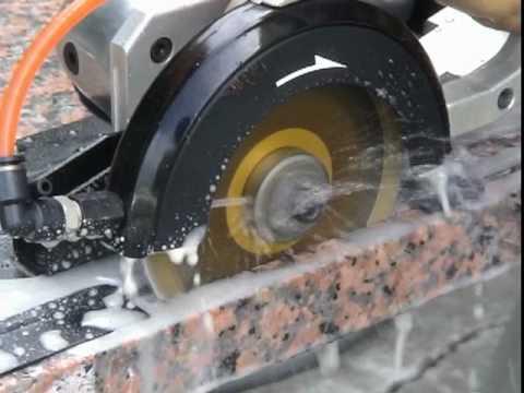 Gpw 227 Wet Air Circular Saw For Granite Stone Youtube