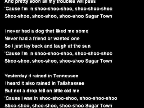 sugar town backing track