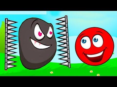 Видео для детей про красный шарик новые серии 2019 года! Детский летсплей red ball!