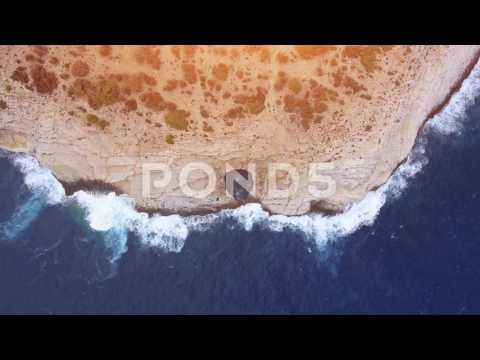 Beautiful Sea Coast At Sunset Nature Formations Natural Pool Hole Thasos Greece