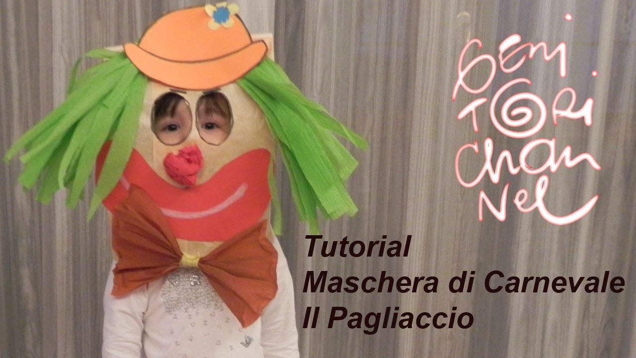 Maschera Da Pagliaccio Tutorial Carnevale Youtube