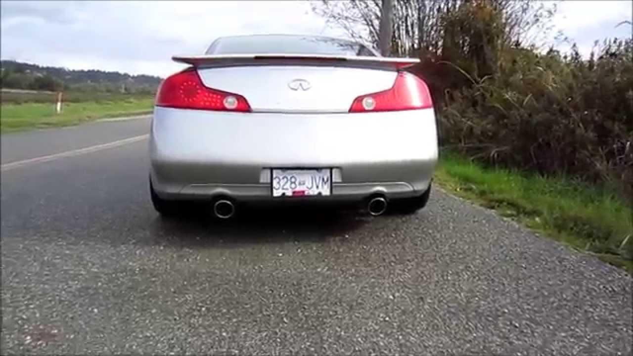 2005 Infiniti G35 Exhaust Stock Anthonyj350 Youtube
