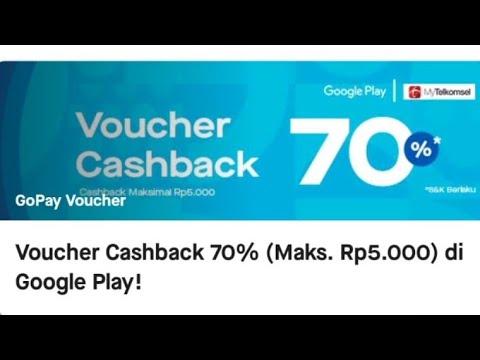 Cara Memakai Voucher Cashback Google Play Dari Gojek Youtube