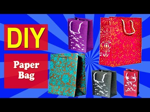 How to Make Paper Bag 01 | Easy DIY Paper Bag | Why Crafts