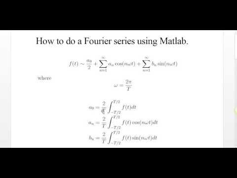 How to do a Fourier series for a Periodic Function using Matlab