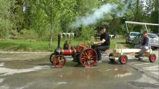 Burrell Dampftraktor 1:3 /   4 inch model steam traction