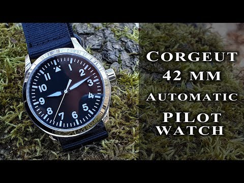 Corgeut 42 Mm Pilot Automatic Watch | Miyota 821A+Sapphire+Stainless Steel #188 Review #flieger