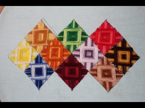 Hand Embroidery Designs   Canvaswork stitch   Stitch and Flower-137