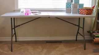 Review - Office Star Worksmart 6 Foot Resin Center Fold Table