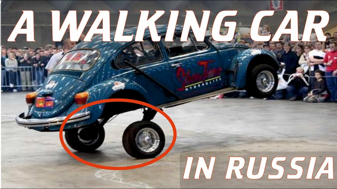 Crazy Russians Invented A Walking Car. Hilarious! - YouTube