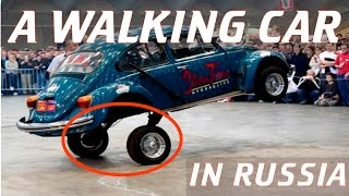 Crazy Russians Invented A Walking Car. Hilarious!