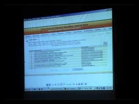 Online Admission Process By Prof.M.Y.Patil (ACPC, Gujarat)