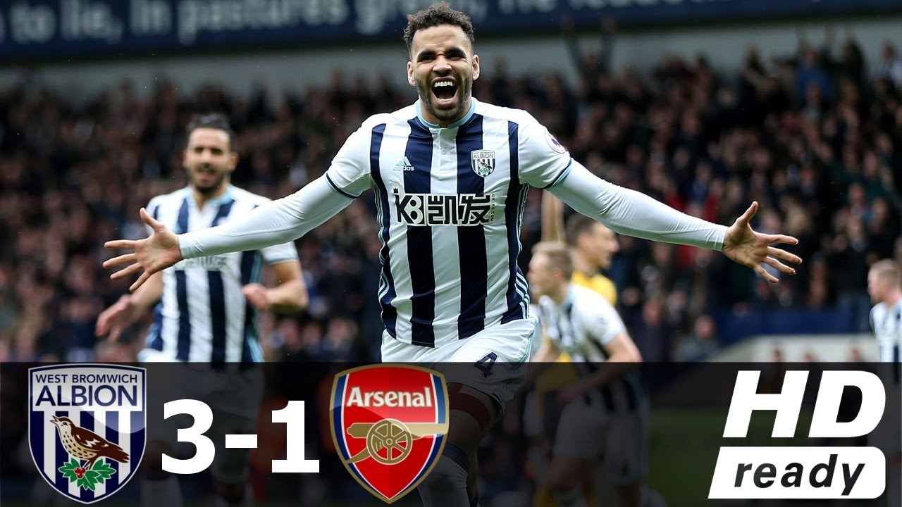 West Brom Vs Arsenal 3 1 All Goals Highlights Premier League 18 03 2017 Hd Youtube