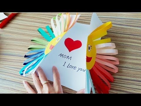Kids Craft Diy Mother S Day Card Art And Crafts Preschool