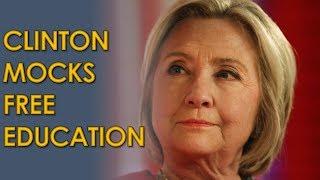 Howard Stern and Hillary Clinton Mock Bernie Sanders Plan for Free Education
