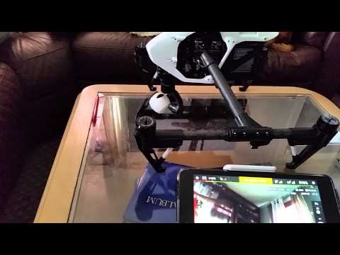 Dji inspire full cam control with one controller