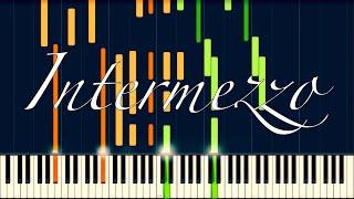 """Intermezzo from """"Cavalleria Rusticana"""" // MASCAGNI [Piano Tutorial] (Synthesia)"""
