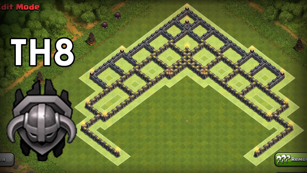 Clash of clans th8 master league trophy base best town hall 8