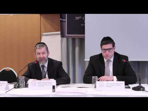 XXVIII Convention of the CER. Rabbi Baruch Davis, Chairman of United Synagogue Rabbis, UK