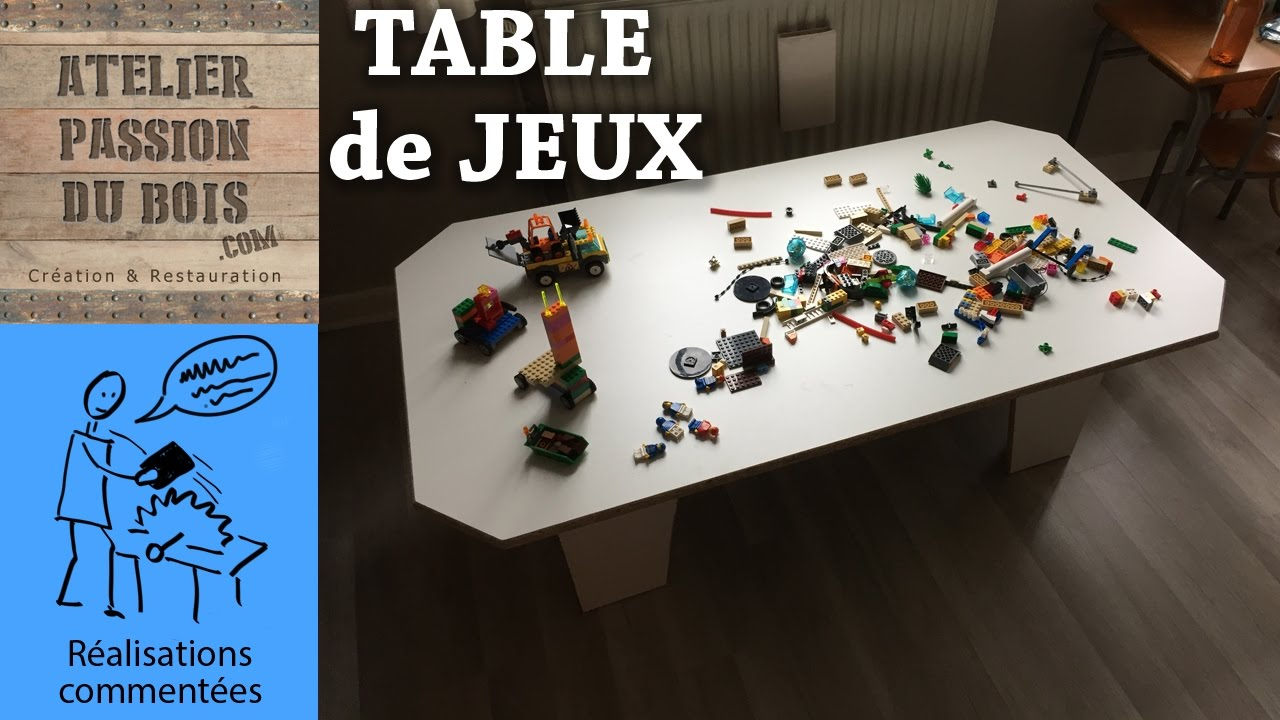 une table de jeux pour enfants upcyling youtube. Black Bedroom Furniture Sets. Home Design Ideas