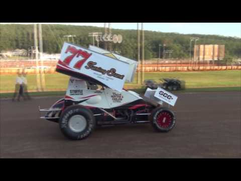 Lincoln Speedway 358 Sprint Car Highlights 08-06-16