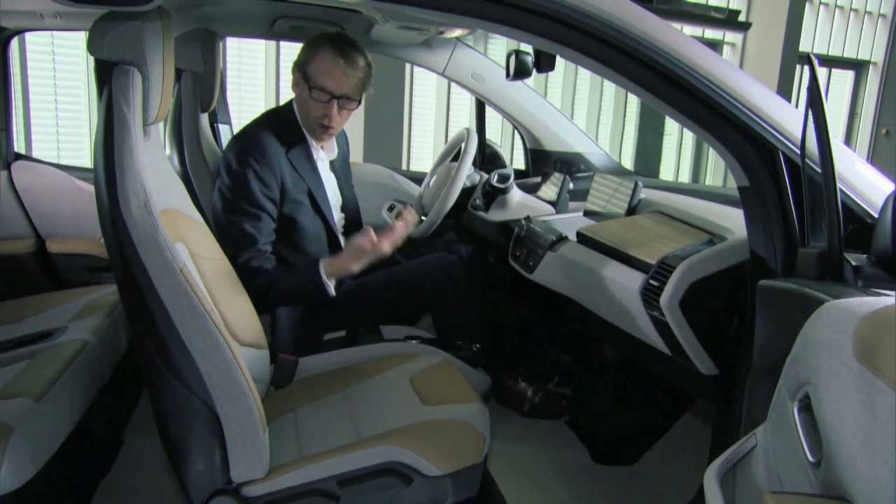 new bmw i3 - interior design review | automototv - youtube