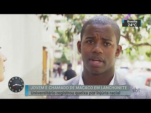 Jovem é chamado de macaco em uma famosa rede de lanchonetes | SBT Brasil (27/03/18)