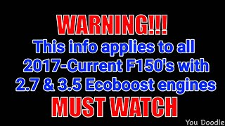F150 Ecoboost Oil Change WARNING/ADVICE