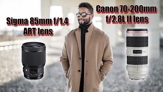Sigma 85mm f/1.4 ART lens vs Canon 70-200mm f/2.8L II lens - Depth of Field