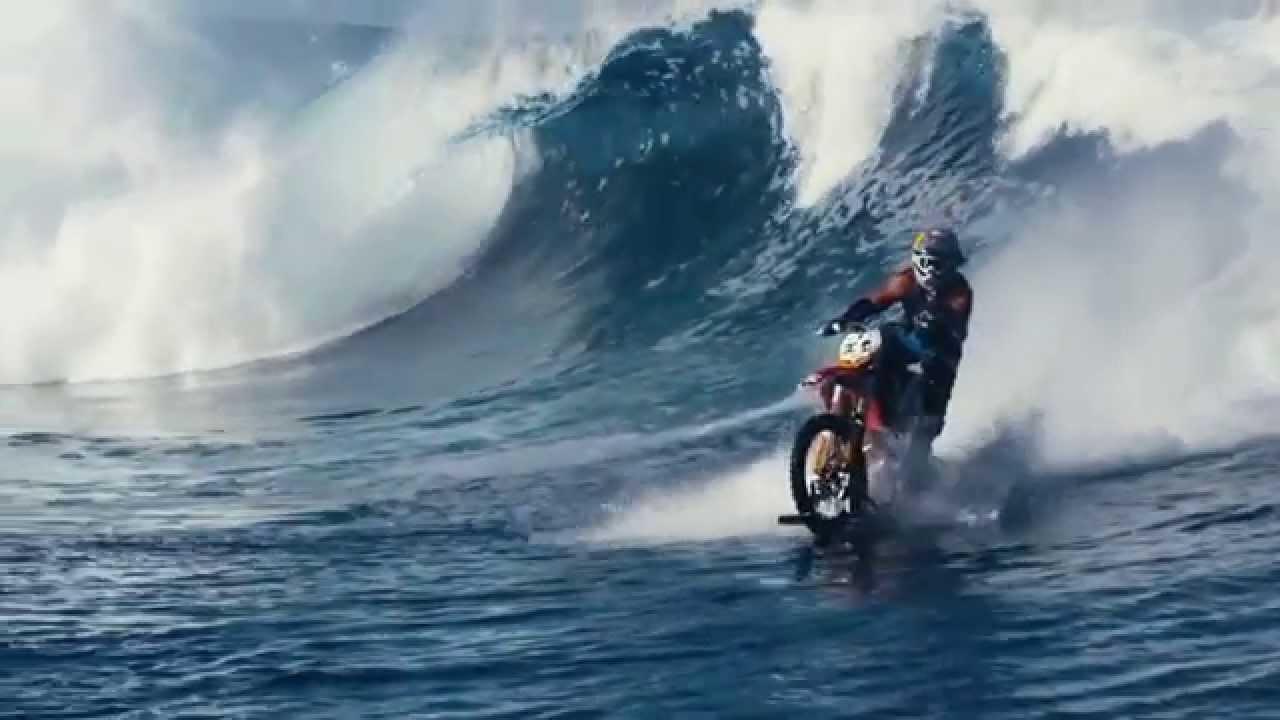 Ktm Bike Water Surfing Amazing Video Youtube