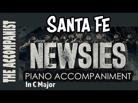 Santa Fe - from the Disney musical 'Newsies' - Piano Accompaniment - Karaoke