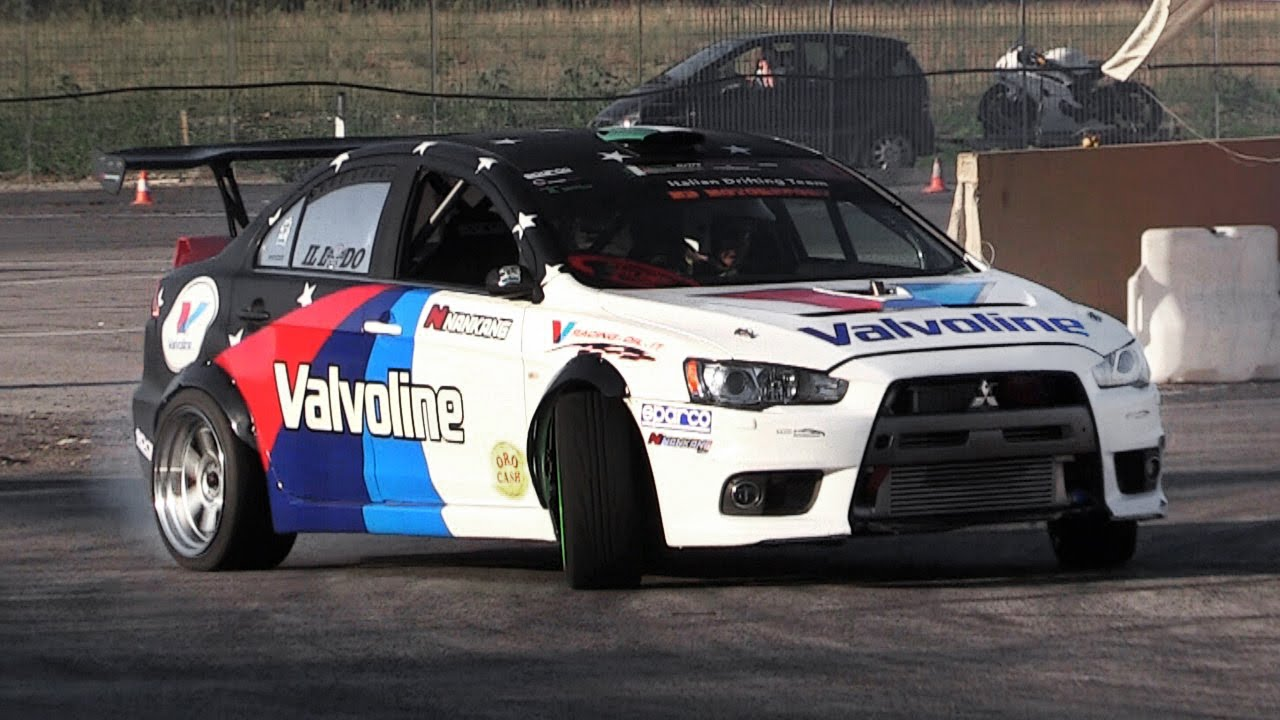 Forza 7 Car Wallpaper Rwd Mitsubishi Lancer Evo X Drifting Amp Loud Backfires