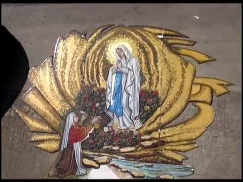 Madonna di Lourdes mosaico sacro by Vincenzo Greco  YouTube