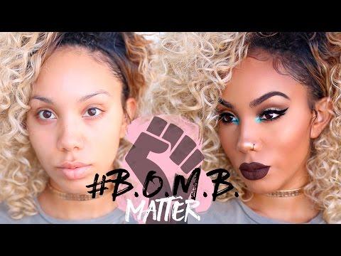 Popular Black Beauty Vloggers Create B.O.M.B Makeup Challenge