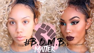 Full face of makeup using only products from black owned comapanies...